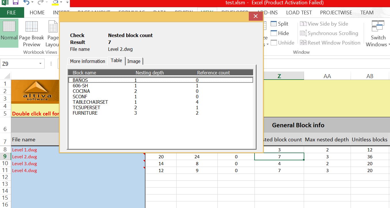 dwgReport: Generate Custom Batch Reports(CSV and XLS) in AutoCAD
